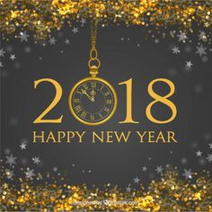 New year background with golden glitter Free Vector New Year Card Messages, West Branch, Journal Questions, New Years Background, Lights Background, Golden Glitter, New Year 2018, Diamond Design, Successful People
