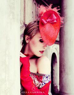 RED SAUCER Lightweight Hat  Ladies Cocktail by EllaGajewskaHATS, £149.00