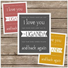 I Love You to UGANDA and Back (Adoption). $10.00, via Etsy.