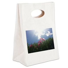 Pink Flowers And Sky Canvas Lunch Tote on CafePress.com
