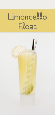 Limoncello Float:  1 ounce chilled limoncello   1/2 ounce Grand Marnier  enough Champagne to fill the rest of the glass  As much vanilla bean ice cream as you'd like