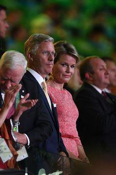 La reine Mathilde et le roi Philippe de Belgique à la cérémonie d'ouverture des…