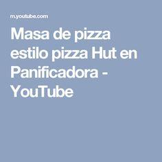 Masa de pizza estilo pizza Hut en Panificadora - YouTube