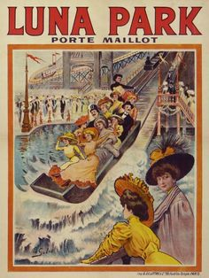 """Gilis Ed. / """"Luna Park Porte Maillot"""", 1900s / MASTER POSTERS by Estampe Moderne et Sportive : Catégories : AFFICHES ANCIENNES"""