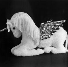 Sewing Pattern Make a Mother Pegasus Unicorn or Horse Soft Sculpture Design from Fantasy Creations. $11.95, via Etsy.