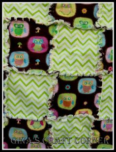 Gina's Craft Corner: Baby Rag Quilt Tutorial