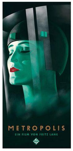 Poster for Fritz Lang film, Metropolis (1927)