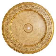 Antique Gold Burnished Cream Ceiling Medallion 4' Diam DIY New Free Shipping