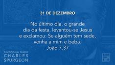 31 de dezembro  - Devocional Diário CHARLES SPURGEON #365