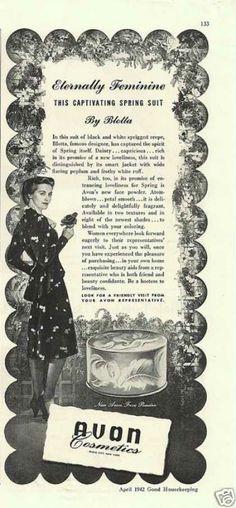 Avon Cosmetices Eternally Feminine (1942)