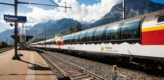 'National Geographic' Says This Is the Most Beautiful Train Trip In America Zermatt, Lausanne, Lugano, Glacier Express, Happy Wanderers, Scenic Train Rides, Swiss Railways, Destinations, Electric Train