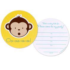 Mod Monkey Invitations