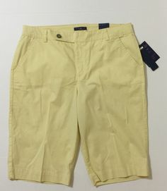 Bandolino Women's Pale Yellow Bermuda, Walking Shorts Size 16 NWT #Bandolino #BermudaWalking