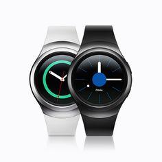 Samsung Gear S2. Draai de rand voor naadloze navigatie via de intuïtieve, ronde interface.