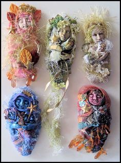 Little Blessings Art Dolls with Carol Murphy online class Fabric Dolls, Fabric Art, Ooak Dolls, Art Dolls, Creative Textiles, Spirited Art, Paperclay, Assemblage Art, Soft Sculpture