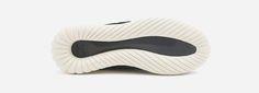 Tubular Nova Sneaker im futuristischen Look, aus einem Mix Textil und Veloursleder mit dicker Gummi-Laufsohle: http://sturbock.me/?s=tubular+nova
