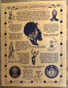 Moon Goddess Parchment Page for Book of Shadows, Altar! • $1.85