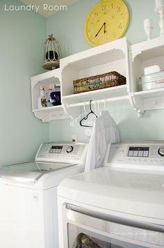 Small laundry room.