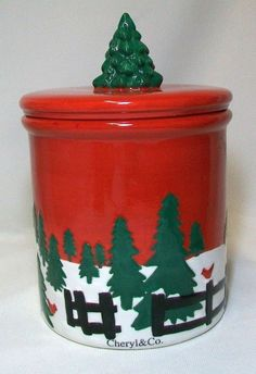 Christmas Cookie Jar by Cheryl & Co
