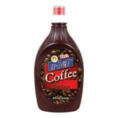 Fox's U-Bet Coffee Flavored Syrup - 20 oz. Coffee Flavored Syrup, Flavored Milk, Delicious Desserts, Yummy Food, Classic Candy, Sweet Treats, Bottle, Milkshakes, Coffee Coffee