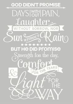 Wall Décor Plus More WDPM2270 God Didn't Promise Days Without Pain Inspirational Wall Vinyl Decal Sticker Quote, 15.5x23-Inch, White:Amazon:Home Improvement