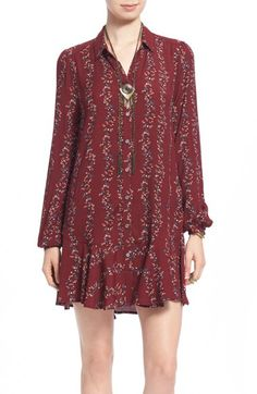Free People Button Front Shirtdress  | Bright Bold and Beautiful