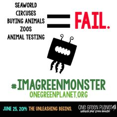Welcome Green Monsters! One Green Planet is your online guide to making conscious choices that help people, animals and the planet. One Green Planet, Animal Fails, Green News, Green Monsters, Animal Testing, Being In The World, Sea World, Vegans, Going Vegan