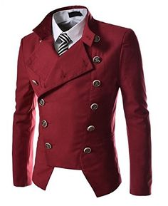 Benibos Mens Casual Double Breasted High Neck Slim Fit Short Jacket (US:M / Tag XL, Red) Benibos http://www.amazon.com/dp/B00W9RXL30/ref=cm_sw_r_pi_dp_LaVewb0VMXT9Q