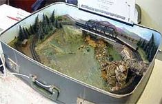 N SCALE, 1:160. Great for business trips. Eh, @Michael Klynstra? #modeltraintablehowtomake