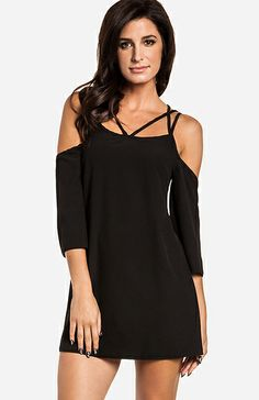 Sexy Black Dress! Pair with heels and a cute clutch.