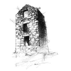 Cornish Tin Mines, Houses Houses, Architecture Drawing Sketchbooks, Sketch A Day, A Level Art, Poldark, Painting & Drawing, Sketching, Art Projects