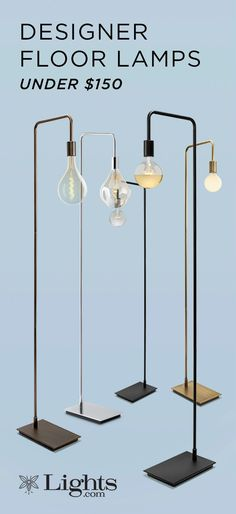 Pulling inspiration from minimalist mid-century design, our new Home Lighting Collection floor lamps prioritize simplicity, clean lines, and beautiful finishes. Contemporary Floor Lamps, Modern Floor Lamps, Home Lighting, Lighting Design, Powder Room Lighting, Diy Floor Lamp, Art Deco Furniture, Furniture Outlet, Discount Furniture