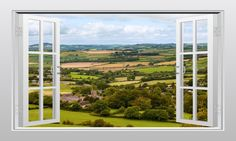 English countryside (Dorset) 3D Window Scape Graphic Art Mural Wall Sticker