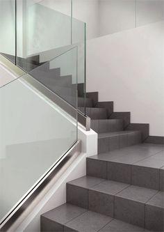 #Glass Stair balustrade NINFA by FARAONE | #design Nino Faraone, Fabrizio Zepponi #staircase @FaraoneSrl