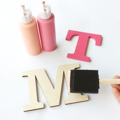 Paint Wood Letters - DIY Stocking Letters | CraftCuts.com