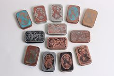 etched altoids tins with salt water & electricity
