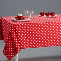 Cotton Polka Dot Tablecloth, Homeware - La Redoute