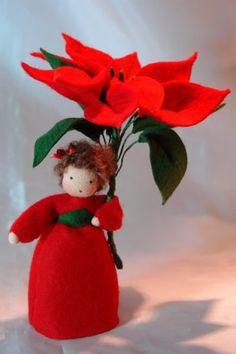 Christmas Star  -Christmas- Flower Child - Waldorf  Inspired. €38.00, via Etsy.