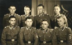 Ukranian volunteers (junior squad leaders) of the Waffen-Grenadier-Division der SS (galizische Nr. in 1943 European People, Cute Country Boys, War Dogs, German Army, Portraits, World War Two, Division, Wwii, History