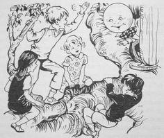 Enid Blyton's best ever!!! Moonface, Saucepan Man and Dame Slap!! Love the Folk of the Faraway Tree! :)