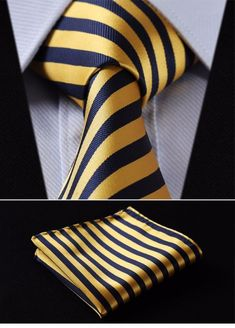 Item Type: Ties Department Name: Adult Style: Fashion Ties Type: Neck Tie Set Material: Silk Gender: Men Size: One Size Brand Name: HISDERN Pattern Type: Plaid is_customized: Yes Place of Origin: Guangdong, China (Mainland) Costume En Lin, Great Mens Fashion, Tie And Pocket Square, Pocket Squares, Tie Pattern, Wedding Ties, Gold Wedding, Tie Set, Moda Masculina