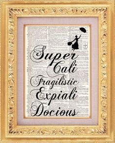 Mary Poppins Super Cali Fragilistic  Vintage von TheRekindledPage, $7.98