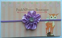125 inches Mini Cluster Satin Flower baby PoshNPretty headband  Lavender