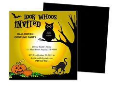 whoos halloween party template