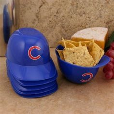 Chicago Cubs 6-Pack Mini Baseball Helmet Ice Cream / Snack Bowls by Rawlings | SportsWorldChicago.com  #ChicagoCubs @cubsbaseball