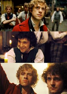 Enjolras (Aaron Tveit) and Grantaire (George Blagden) - from the Les Miserables movie