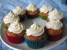 Banana Nut Cupcakes with Cinnamon Cream Cheese Frosting!