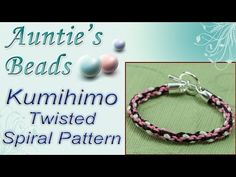 Twisted Spiral Pattern - Kumihimo Episode 3