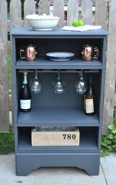 How To Turn A Curbside Dresser Into A Bar
