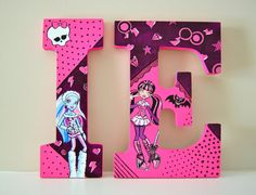 Monster High Hand painted Wood letters